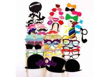 Kit 58 déguisements et accessoires pour Photobooth