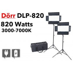 LED DLP-820 Dorr - 2x Panneaux Led bi-color dimmable