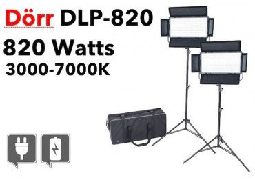 LED DLP-820 Dorr - 2x Panneaux Led bi-color dimmable LED Bi-Color
