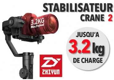 Zhiyun Crane 2 - Stabilisateur d'image avec follow focus- 3,2 Kg