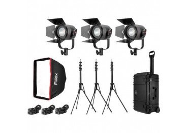 Fiilex P360 Pro - Kit 3x Projecteurs Led 400 Watts Elairage continu Spot & Fresnel
