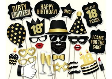 kit anniversaire 18 ans d guisement pour photobooth lyon. Black Bedroom Furniture Sets. Home Design Ideas