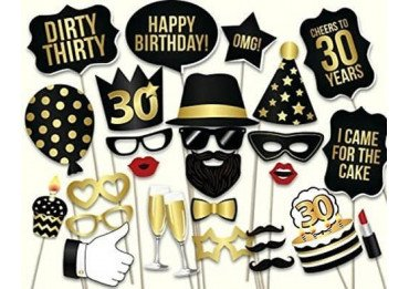 kit anniversaire 30 ans d guisement pour photobooth lyon. Black Bedroom Furniture Sets. Home Design Ideas
