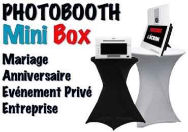 Mini Box - Photobooth pour l'animation de vos évènements (Mariage, Anniversaire, Entreprise, Salon, etc)