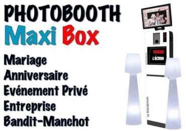 Maxi Box - Photobooth pour l'animation de vos évènements (Mariage, Anniversaire, Entreprise, Salon, etc) Photo Box