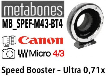 Bague Metabones Speed Booster Ultra 0,71x MB_SPEF-M43-BT3 Canon EF to MFT