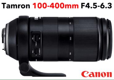 TAMRON 100-400 mm F/4,5-6,3 Di VC USD CANON Téléobjectif