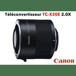 TAMRON Teleconvertisseur TC-X20E 2.0X Canon Bague et Doubleur