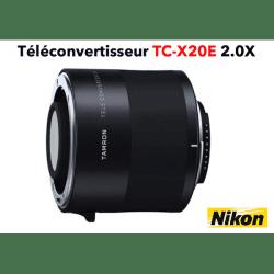 TAMRON Teleconvertisseur TC-X20E 2.0X Nikon Bague et Doubleur