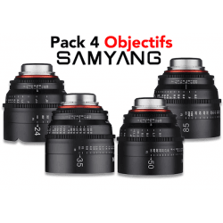 Pack 4 objectifs Samyang Xeen - 24mm / 35mm / 50mm / 85mm Monture Canon (EF)