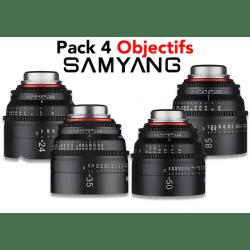 Pack 4 Objectifs Samyang Xeen
