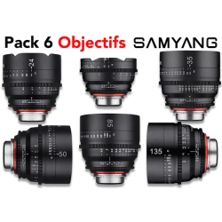 Pack 6 objectifs Samyang Xeen - 16_24_35_50_85_135 Monture Canon (EF)