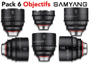 Pack 6 objectifs Samyang Xeen