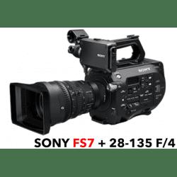 Caméra Sony FS7 PXW - 4K + Objectif Sony 28-135 mm