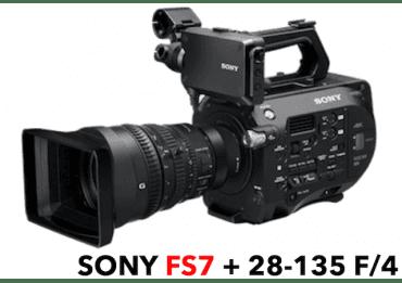Caméra Sony FS7 PXW - 4K + Objectif Sony 28-135 mm Caméra Vidéo