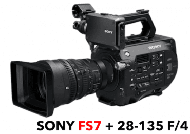 Caméra Sony PXW FS7 Mark II 4K + Objectif Sony 28-135 mm Caméra Vidéo