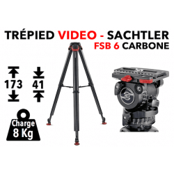 Trépied vidéo SACHTLER FSB 6 Carbon FT MS - System Flowtech Trépied vidéo