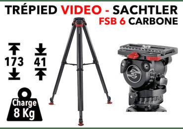 Trépied vidéo SACHTLER FSB 6 Carbon FT MS - System Flowtech