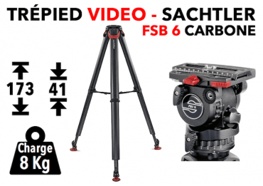 Trépied Vidéo Sachter FSB 6 Carbon FT MS - System Flowtech Trépied vidéo