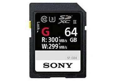 Sony SDXC 64 GB série G - 300 Mb/s Carte SD (SD/SDHC/SDXC)