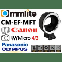 Bague Commlite CM-EF-MFT - Canon (EF) vers MFT Micro 4/3