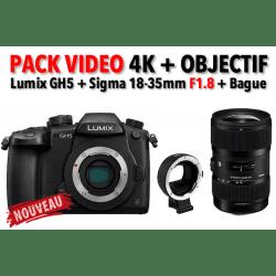 Pack Vidéo GH5-R + Sigma 18-35 F1.8 + Bague commlite Hybride Panasonic
