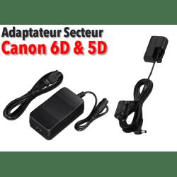 Adaptateur secteur - Canon LP-E6 (7D - 6D - 5D)