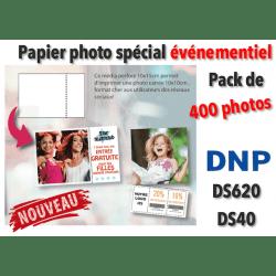 Papier photo DNP DS620 10x10cm pérforé - 400 tirages VENTE
