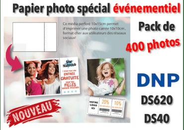 Papier photo DNP DS620 10x10cm pérforé - 400 tirages