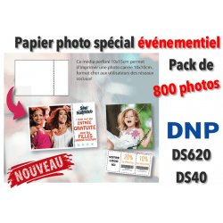 Papier photo DNP DS620 10x10cm pérforé - 800 tirages