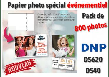 Papier photo DNP DS620 10x10cm pérforé - 800 tirages