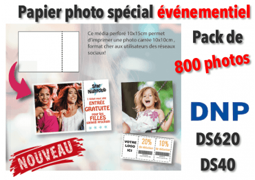 Papier photo DNP DS620 5x20 cm perforé - 400 tirages VENTE