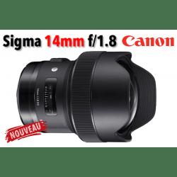 Sigma 14mm f/1.8 DG HSM Art - Monture Canon Grand Angle