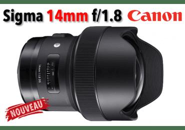 Sigma 14 mm f/1.8 DG HSM Art - Monture Canon