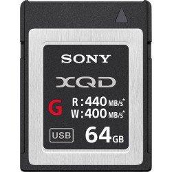 Sony XQD 64GB série G - Ecriture 400 MB/s Carte XQD