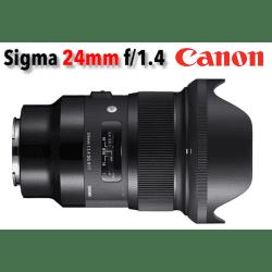 Sigma 24 mm f/1,4 DG HSM - Art- Monture Canon