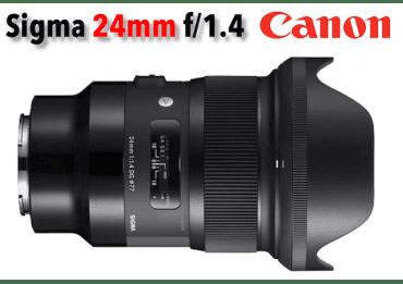 Sigma 24 mm f/1,4 DG HSM - Art- Monture Canon Grand Angle