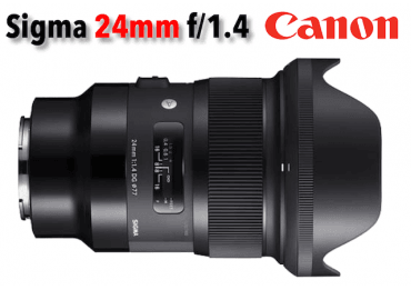 Sigma 24mm f/1,4 DG HSM - Art - Monture Canon Grand Angle