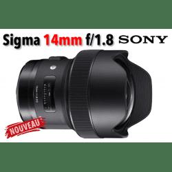 Sigma 14 mm f/1.8 DG HSM Art - Monture Sony