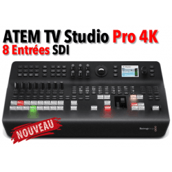 Blackmagic ATEM Television Studio Pro 4K - Mélangeur vidéo 8 entrée SDI Mélangeur et Régie Vidéo