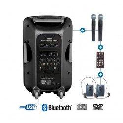Sono Portable avec micro casque et micro main - Enceinte Power Acoustics - BE 9515 UHF PT ABS Sono & DJ
