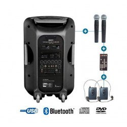 Sono Portable avec micro casque et micro main - Enceinte Power Acoustics - BE 9515 UHF PT ABS Sono & Karaoké