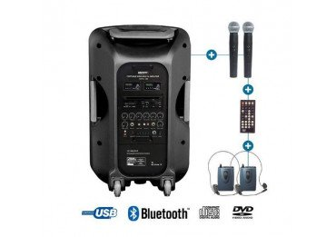 Sono Portable avec micro casque et micro main - Power Acoustics - BE 9515 UHF PT ABS