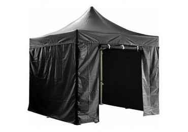 Barnum pliant 3x3m avec pack 4 murs amovibles - noir - tente pliante