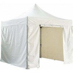 Barnum pliant 3x3m avec pack 4 murs amovibles - blanc - Chapiteau pliant Barnum & Tente