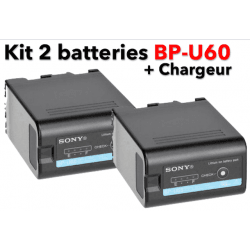 Kit 2 batteries Sony BP-U60
