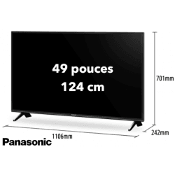 TV Panasonic TX-49FXW654 - 49 pouces / 124 cm - 4K Télévision