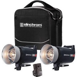 ELINCHROM kit d'éclairage ELC Pro HD 2 x 1000 W + émetteur Skyport plus Flash Studio