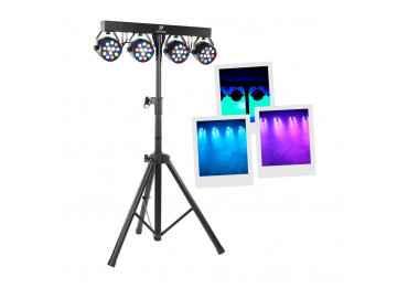 Jeux de lumière 4 Led multicolor - BoomTone DJ