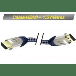 Câble HDMI M / HDMI M - 1,5 mètre Câble HDMI